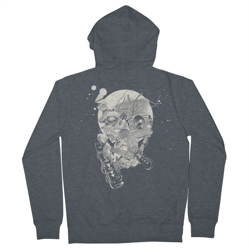 Space Concerto Men's Zip-Up Hoody by Windville's Artist Shop