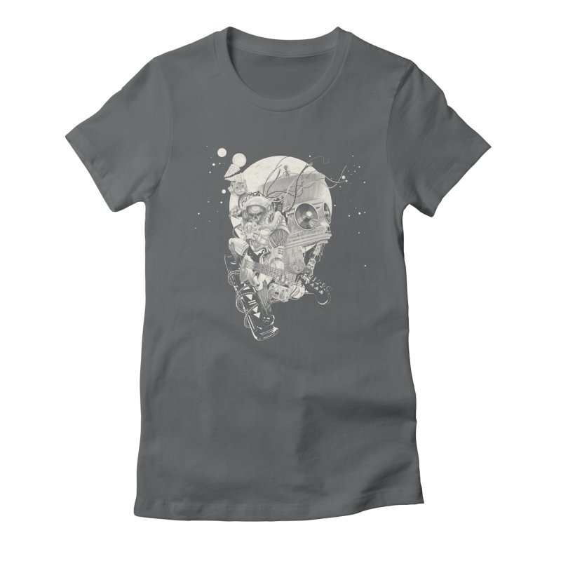 Space Concerto Women's Fitted T-Shirt by Windville's Artist Shop