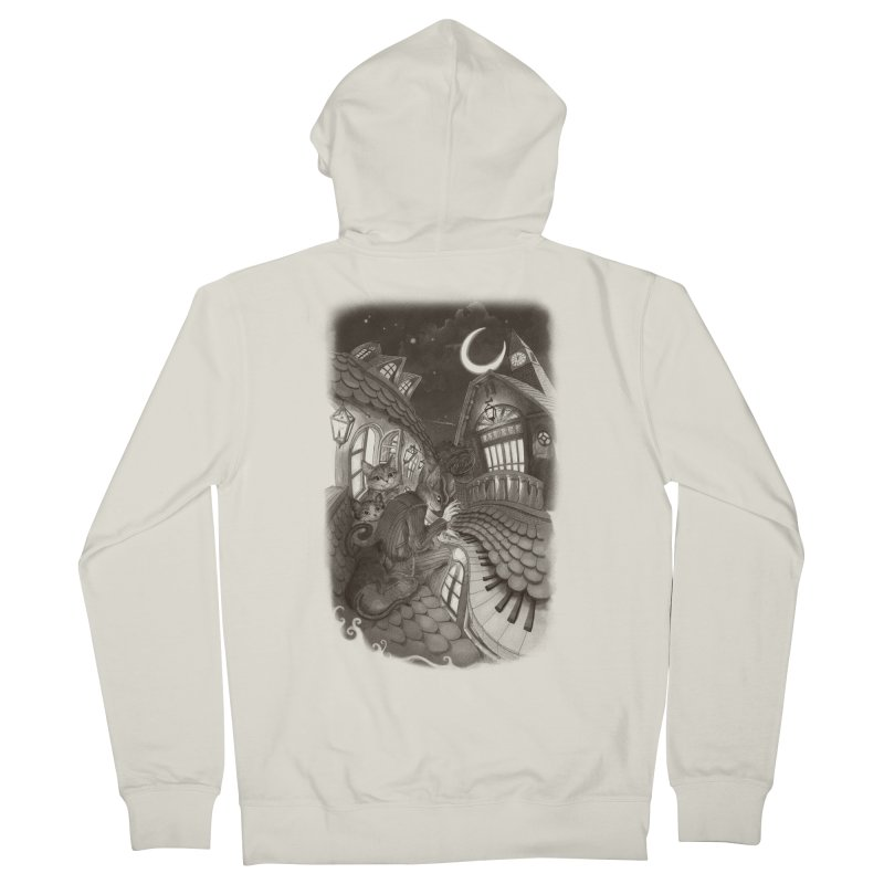 Midnight Melody Men's Zip-Up Hoody by Windville's Artist Shop