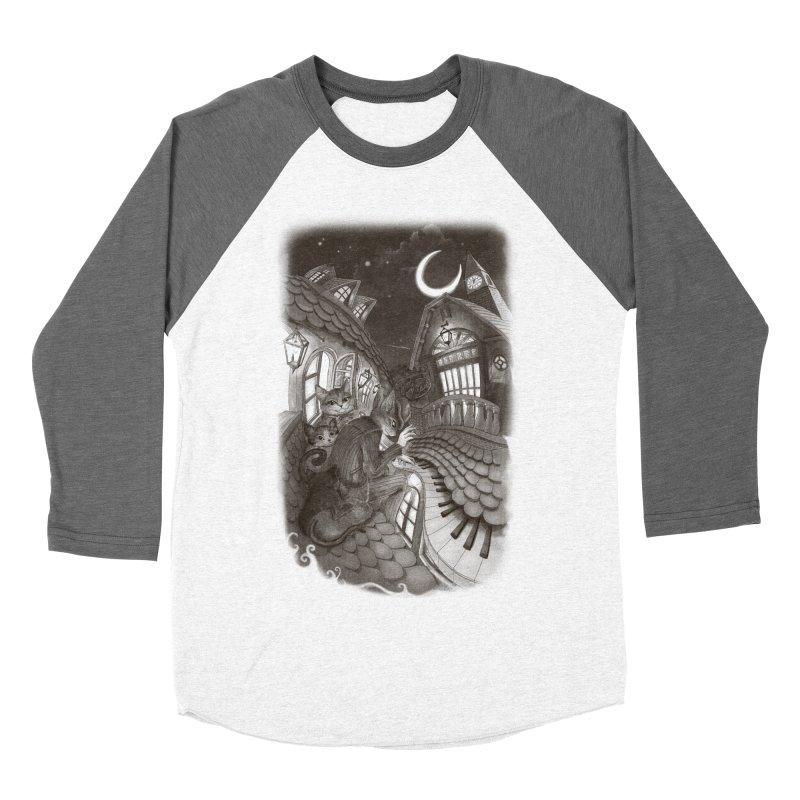 Midnight Melody Men's Baseball Triblend T-Shirt by Windville's Artist Shop