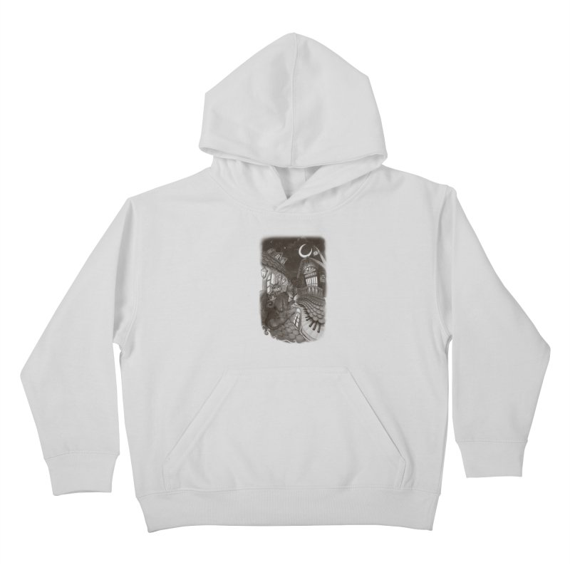 Midnight Melody Kids Pullover Hoody by Windville's Artist Shop