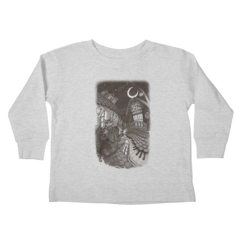 Midnight Melody Kids Toddler Longsleeve T-Shirt by Windville's Artist Shop