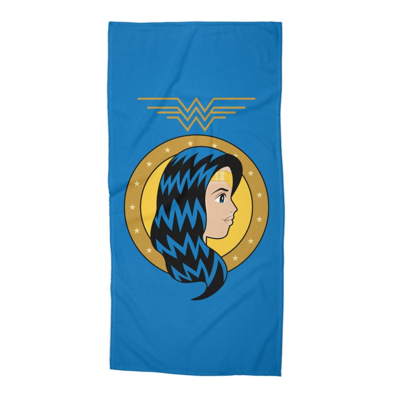 Wonder Woman Accessories Beach Towel by WingedBomB's Artist Shop
