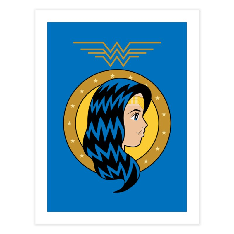 Wonder Woman Home Fine Art Print by WingedBomB's Artist Shop