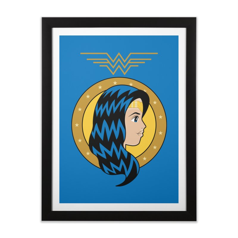 Wonder Woman Home Framed Fine Art Print by WingedBomB's Artist Shop