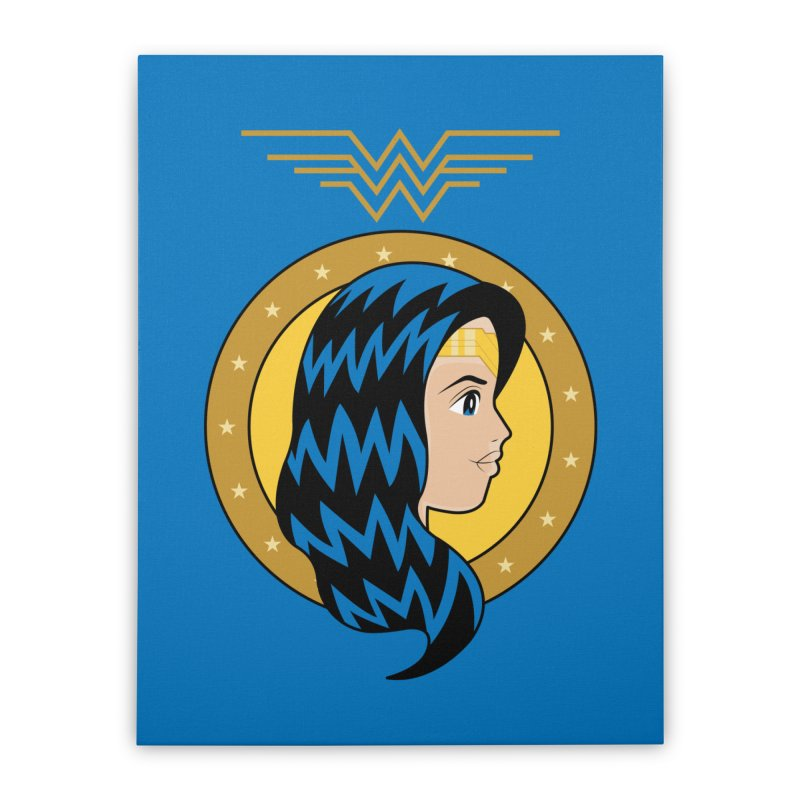 Wonder Woman Home Stretched Canvas by WingedBomB's Artist Shop