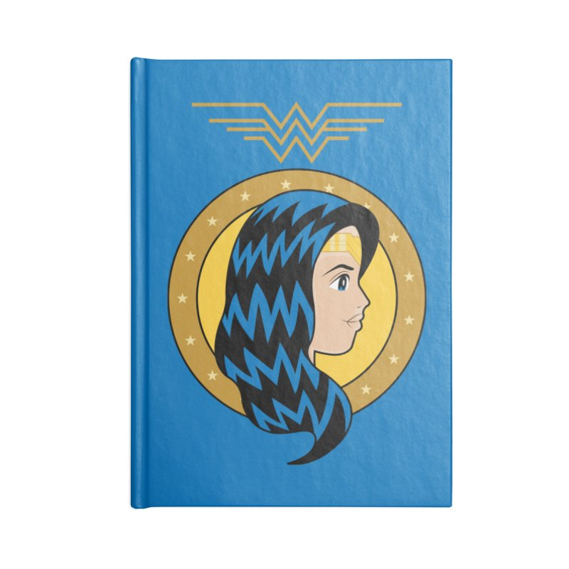 Wonder Woman Accessories Blank Journal Notebook by WingedBomB's Artist Shop