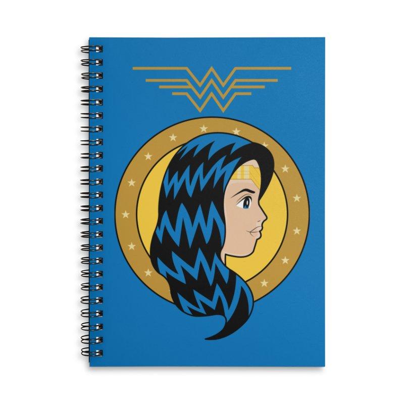 Wonder Woman Accessories Lined Spiral Notebook by WingedBomB's Artist Shop