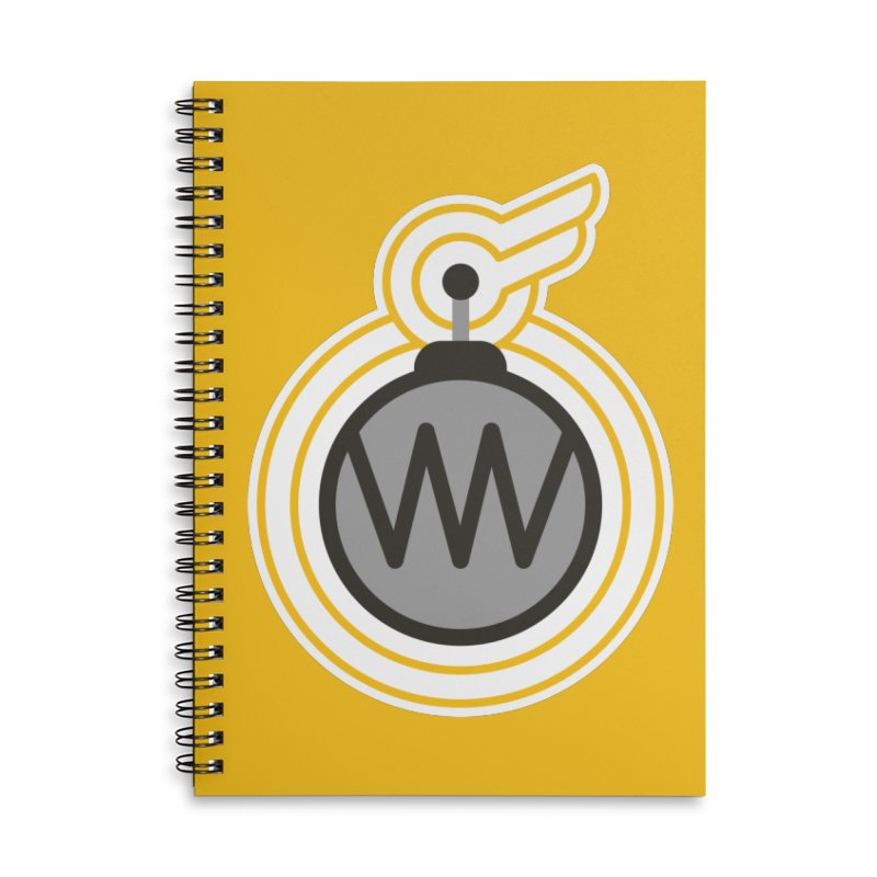 Winged Bomb Accessories Lined Spiral Notebook by WingedBomB's Artist Shop