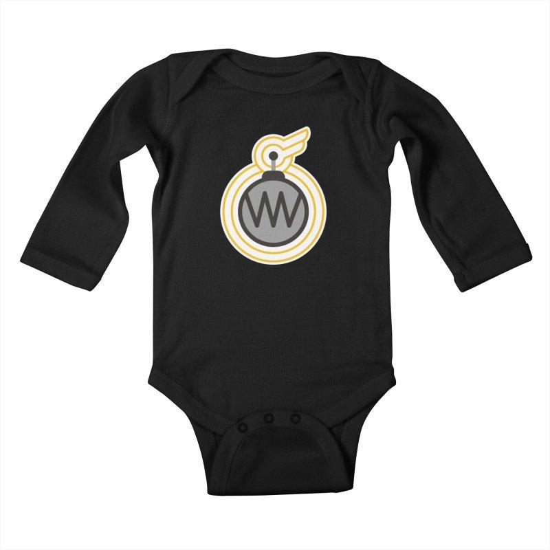 Winged Bomb Kids Baby Longsleeve Bodysuit by WingedBomB's Artist Shop