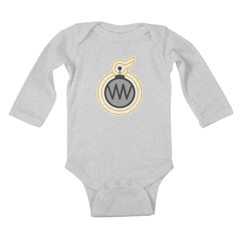 Winged Bomb Kids Baby Longsleeve Bodysuit by WingedBomB's Artist Shop