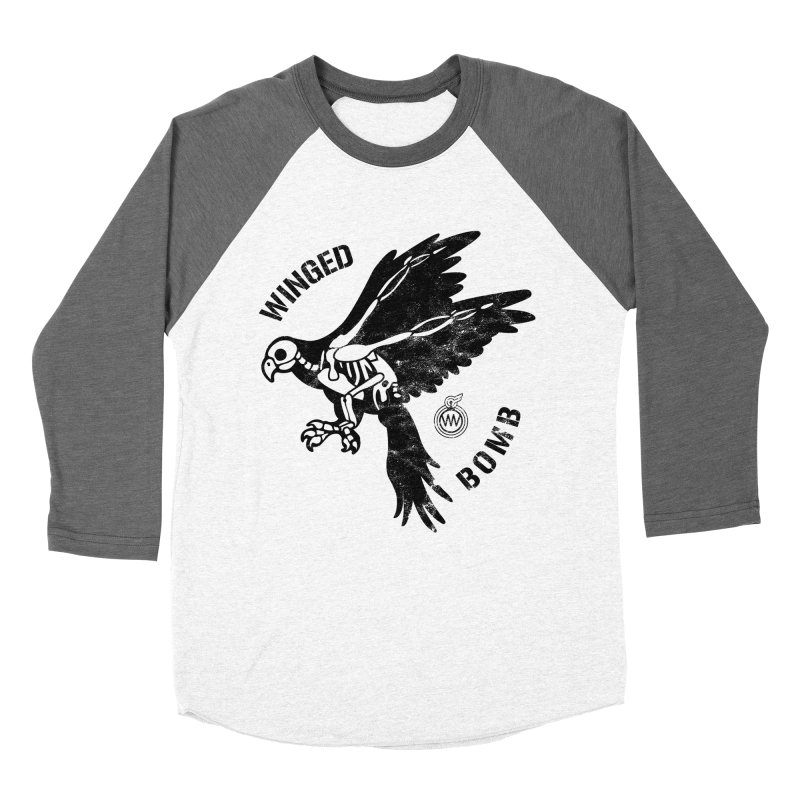 Macaw Skeleton Women's Baseball Triblend T-Shirt by WingedBomB's Artist Shop