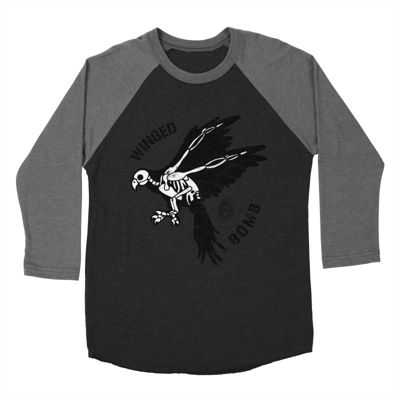 Macaw Skeleton Men's Baseball Triblend T-Shirt by WingedBomB's Artist Shop