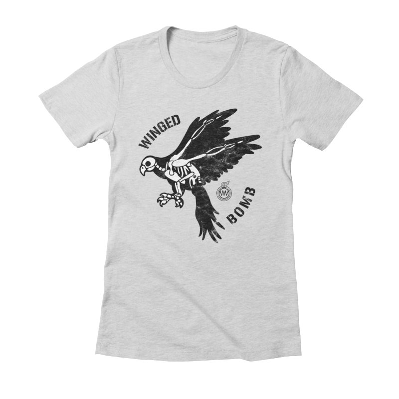 Macaw Skeleton Women's Fitted T-Shirt by WingedBomB's Artist Shop
