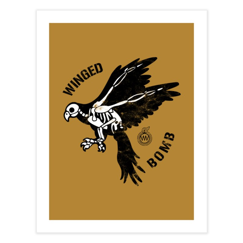 Macaw Skeleton Home Fine Art Print by WingedBomB's Artist Shop
