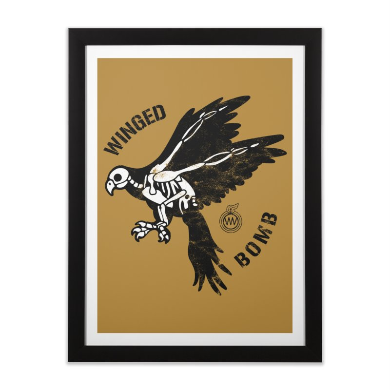 Macaw Skeleton Home Framed Fine Art Print by WingedBomB's Artist Shop