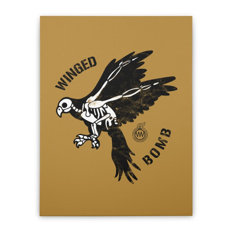 Macaw Skeleton Home Stretched Canvas by WingedBomB's Artist Shop