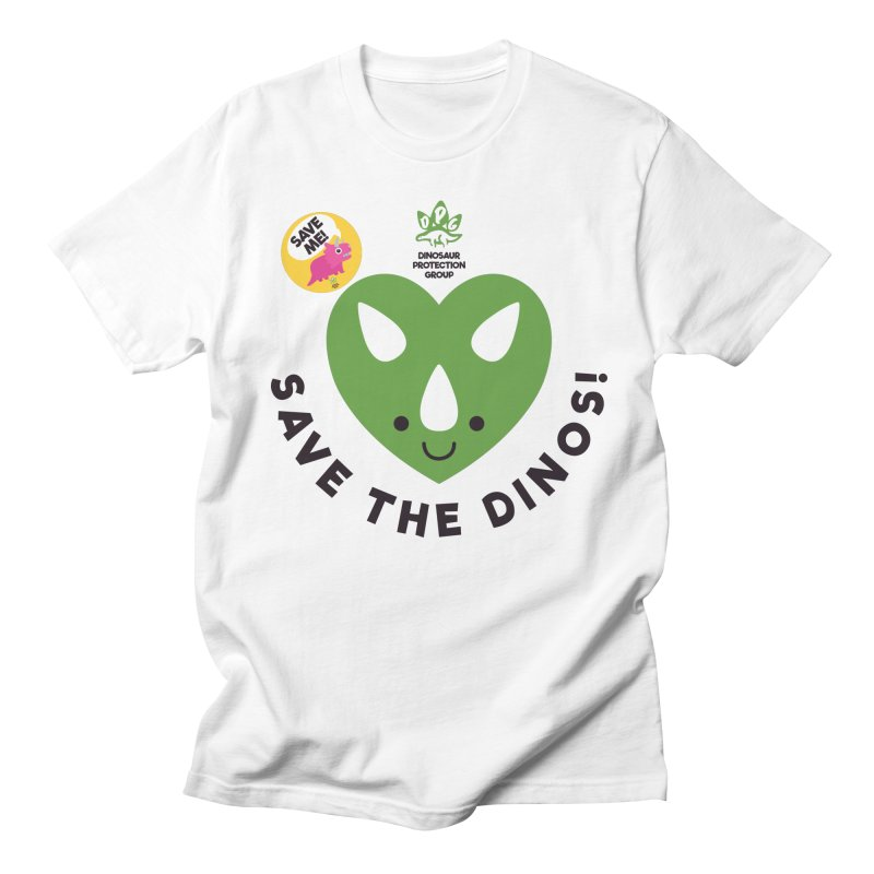 Save The Dinos! (Variant) in Men's T-Shirt White by WingedBomB's Artist Shop