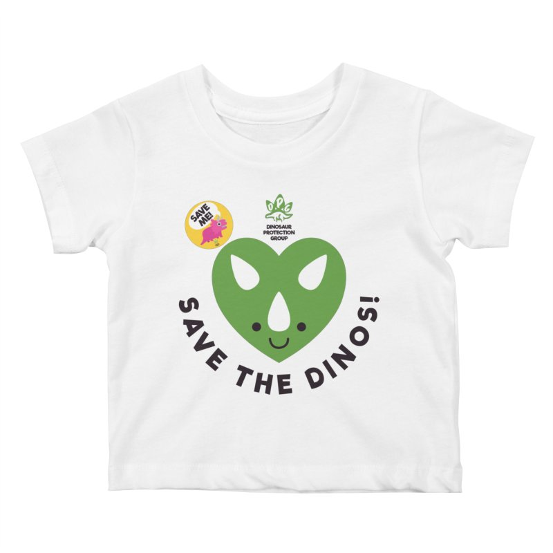 Save The Dinos! (Variant) Kids Baby T-Shirt by WingedBomB's Artist Shop