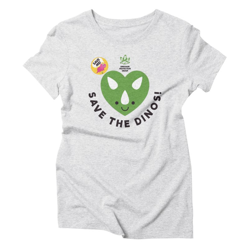 Save The Dinos! (Variant) Women's Triblend T-Shirt by WingedBomB's Artist Shop