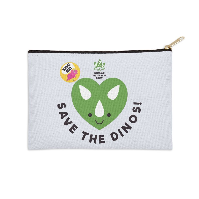 Save The Dinos! (Variant) Accessories Zip Pouch by WingedBomB's Artist Shop