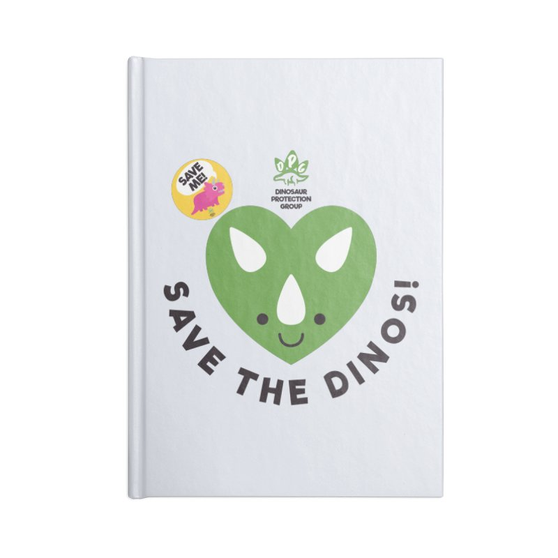 Save The Dinos! (Claire Dearing Variant) Accessories Blank Journal Notebook by WingedBomB's Artist Shop