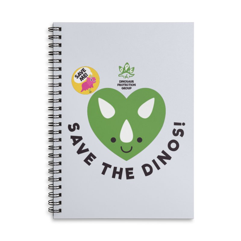 Save The Dinos! (Claire Dearing Variant) Accessories Lined Spiral Notebook by WingedBomB's Artist Shop