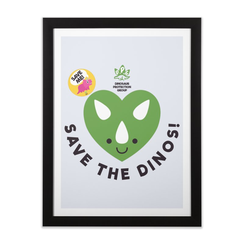 Save The Dinos! (Claire Dearing Variant) Home Framed Fine Art Print by WingedBomB's Artist Shop