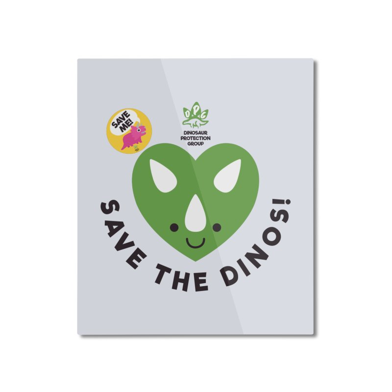 Save The Dinos! (Claire Dearing Variant) Home Mounted Aluminum Print by WingedBomB's Artist Shop