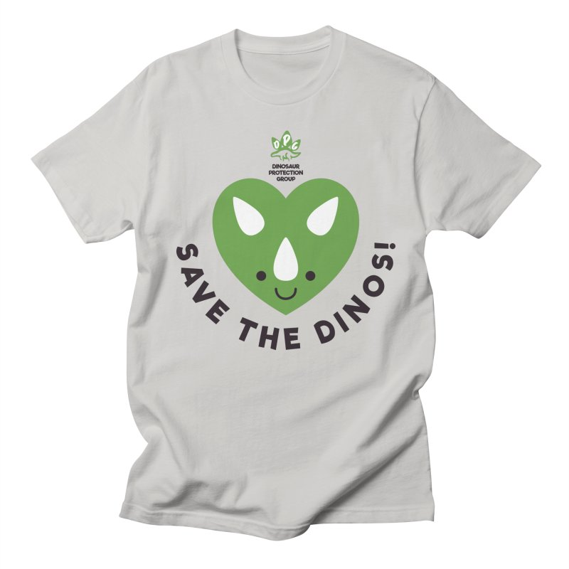 Save The Dinos! (Regular) in Men's Regular T-Shirt Stone by WingedBomB's Artist Shop