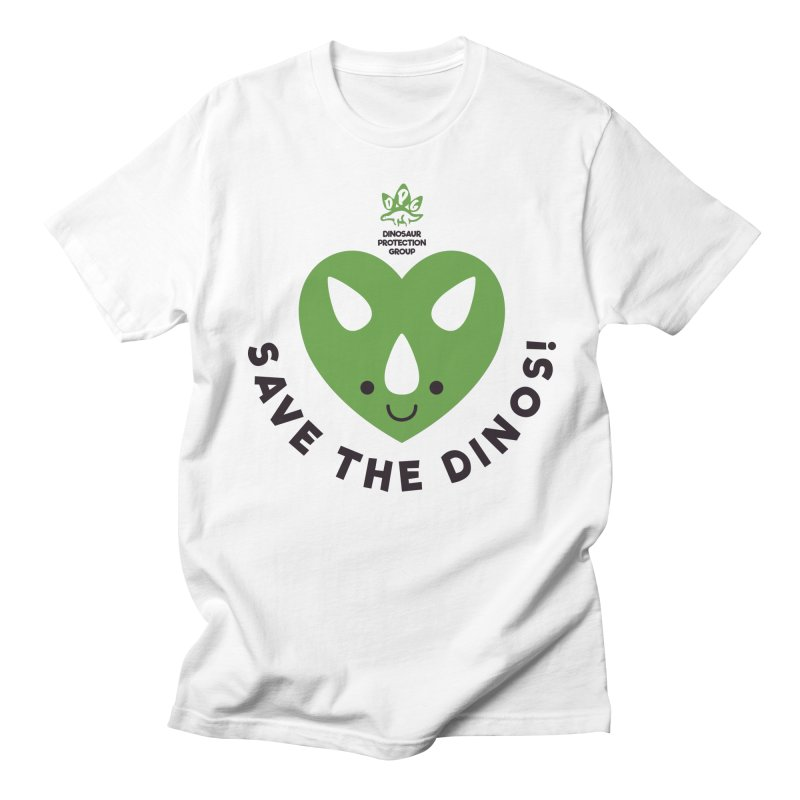 Save The Dinos! (Regular) Men's T-Shirt by WingedBomB's Artist Shop