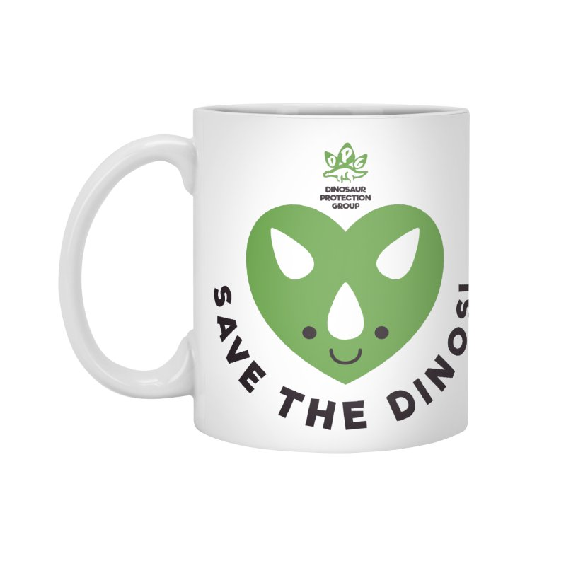 Save The Dinos! (Regular) Accessories Mug by WingedBomB's Artist Shop