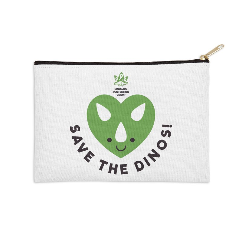 Save The Dinos! (Regular) Accessories Zip Pouch by WingedBomB's Artist Shop