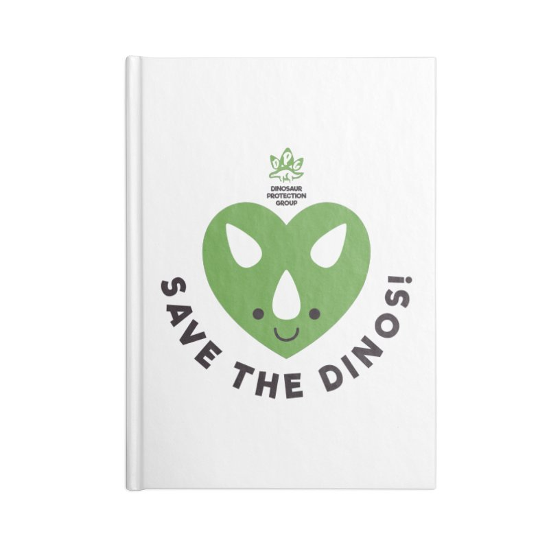 Save The Dinos! (Regular) Accessories Blank Journal Notebook by WingedBomB's Artist Shop