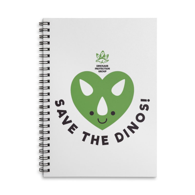 Save The Dinos! (Regular) Accessories Lined Spiral Notebook by WingedBomB's Artist Shop