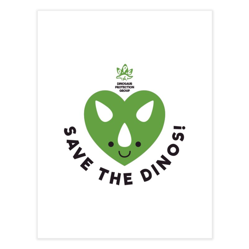 Save The Dinos! (Regular) Home Fine Art Print by WingedBomB's Artist Shop