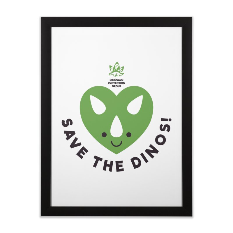 Save The Dinos! (Regular) Home Framed Fine Art Print by WingedBomB's Artist Shop