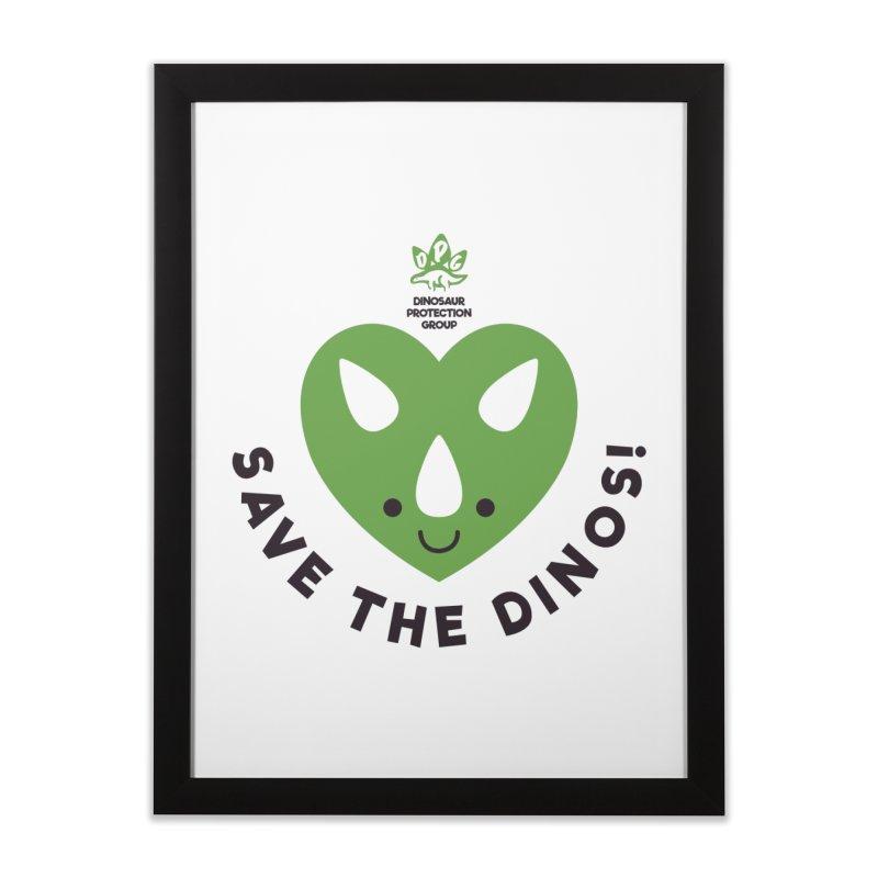 Save The Dinos! (Regular) Home Framed Fine Art Print by WingedBomB's Artist Shop