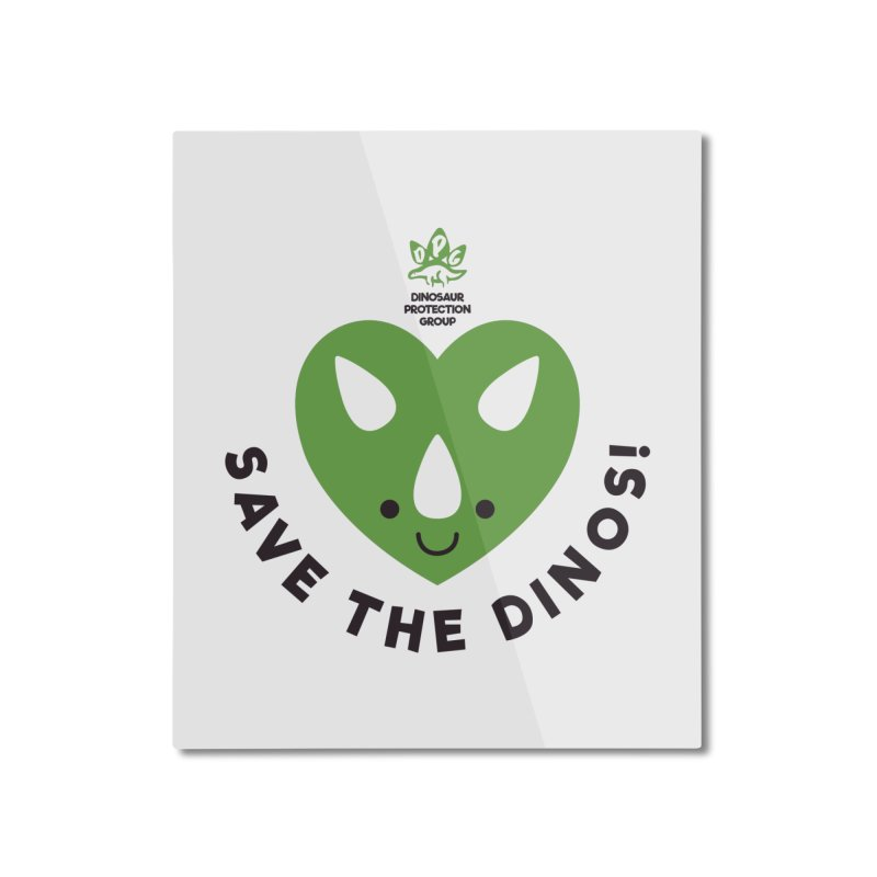 Save The Dinos! (Regular) Home Mounted Aluminum Print by WingedBomB's Artist Shop