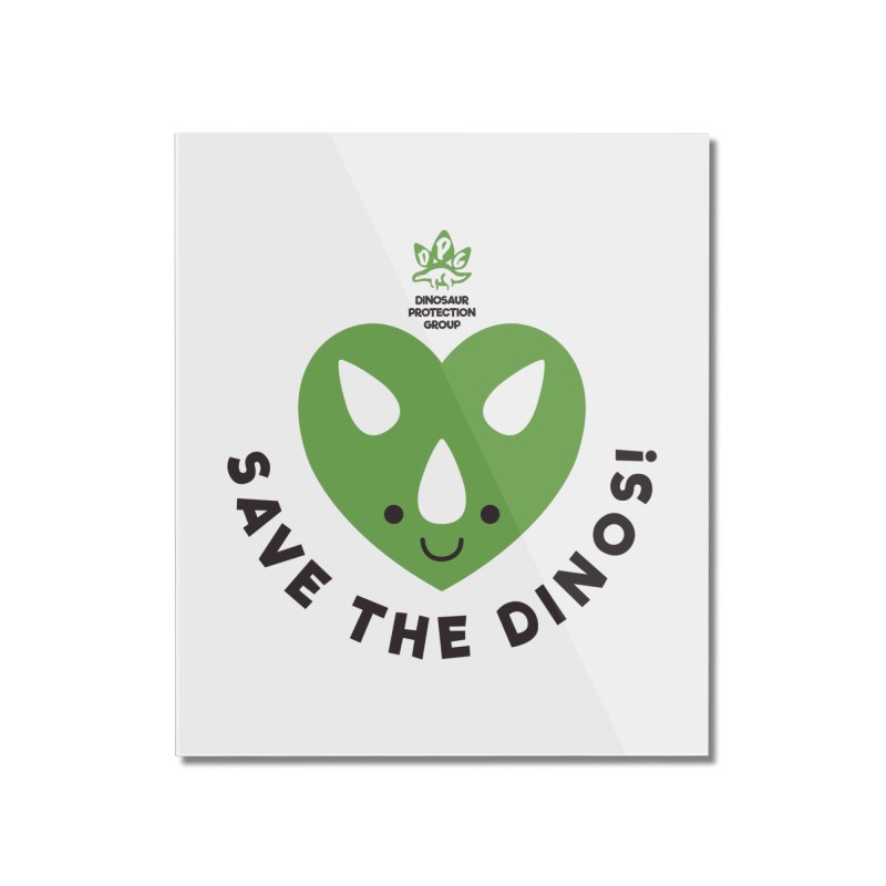 Save The Dinos! (Regular) Home Mounted Acrylic Print by WingedBomB's Artist Shop