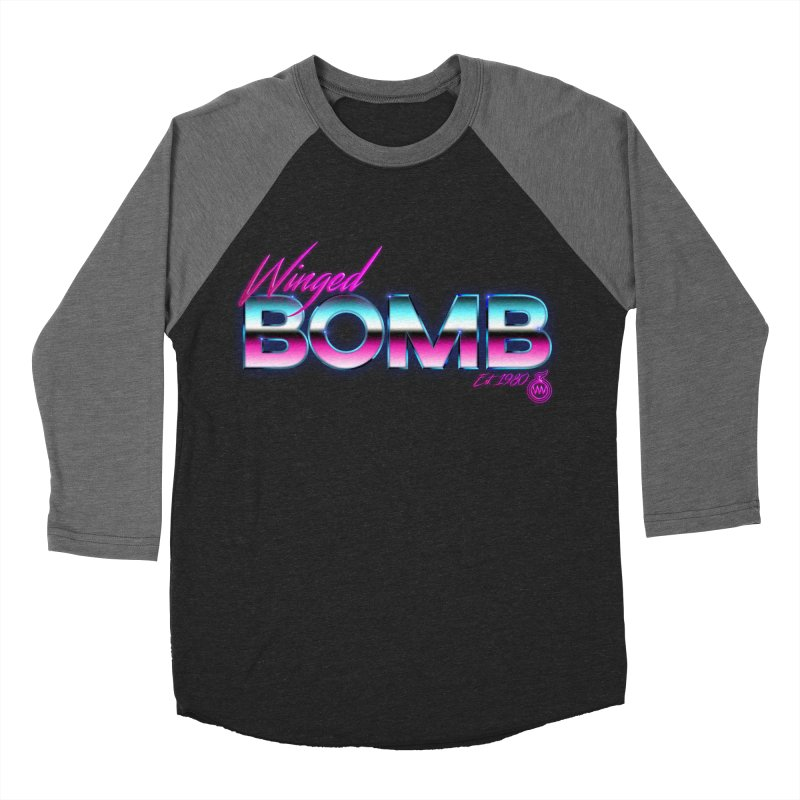 Winged Bomb 1980's Men's Baseball Triblend T-Shirt by WingedBomB's Artist Shop