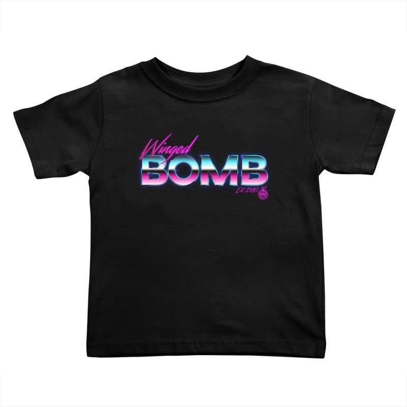 Winged Bomb 1980's Kids Toddler T-Shirt by WingedBomB's Artist Shop
