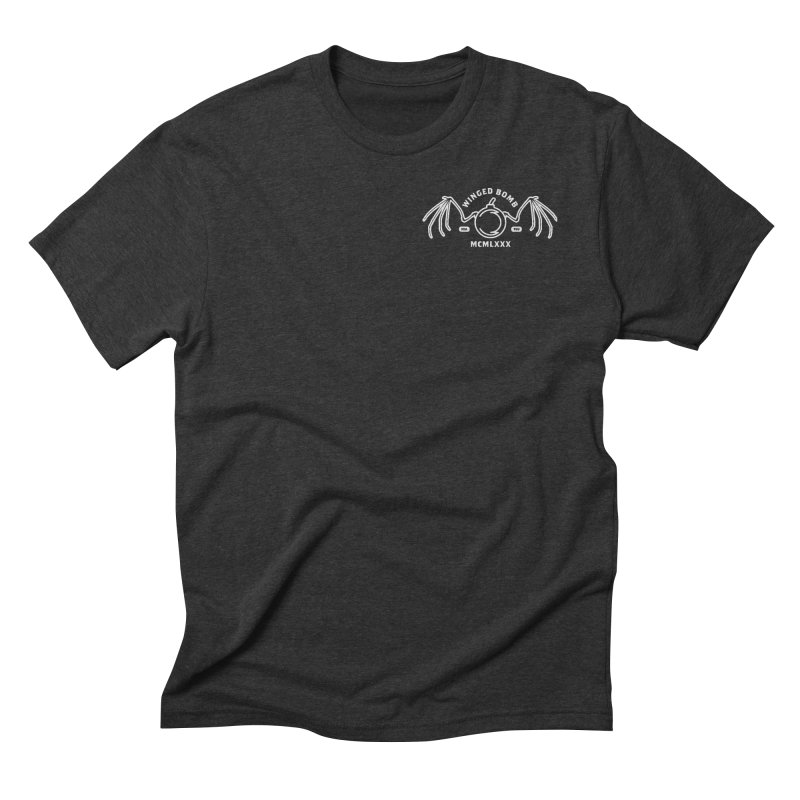Bat Winged Bomb Men's Triblend T-Shirt by WingedBomB's Artist Shop