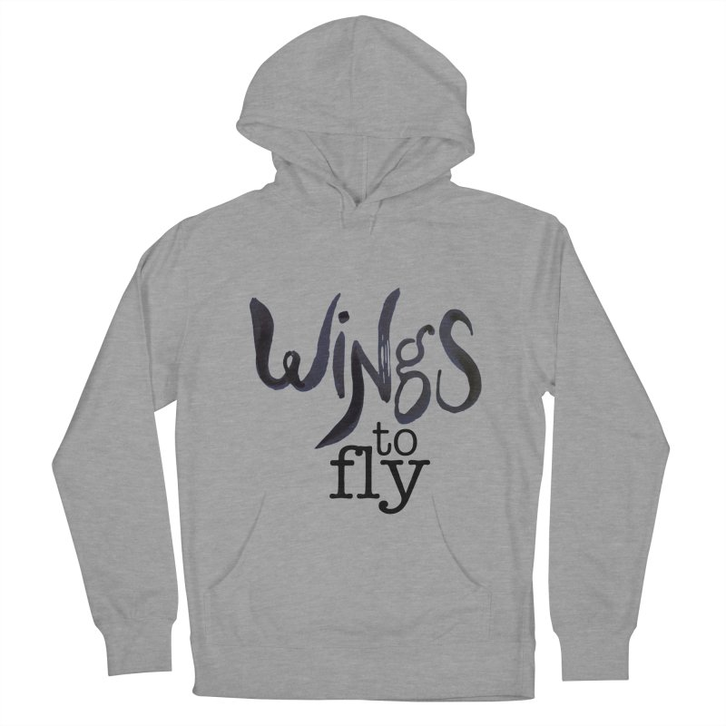 Wings To Fly Brushstroke Women's French Terry Pullover Hoody by wingstofly's Artist Shop