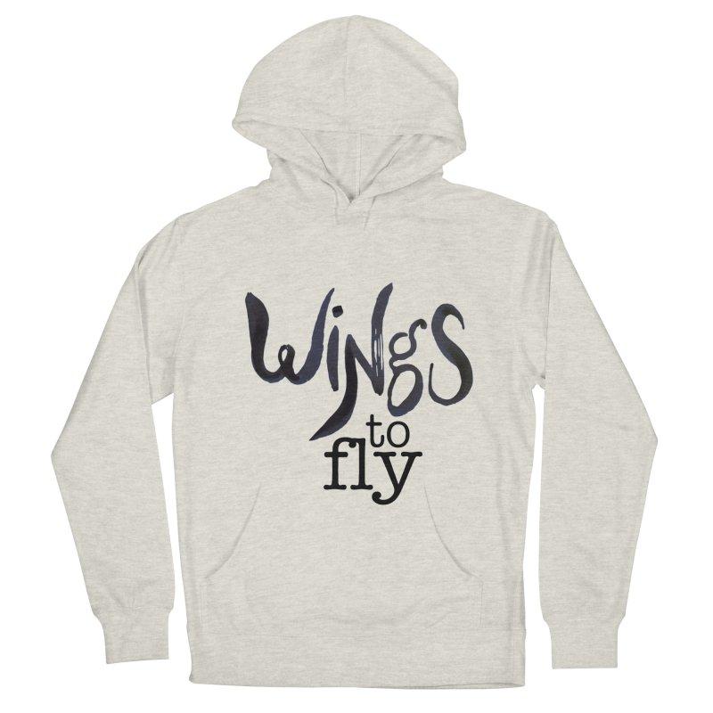 Wings To Fly Brushstroke Women's Pullover Hoody by wingstofly's Artist Shop