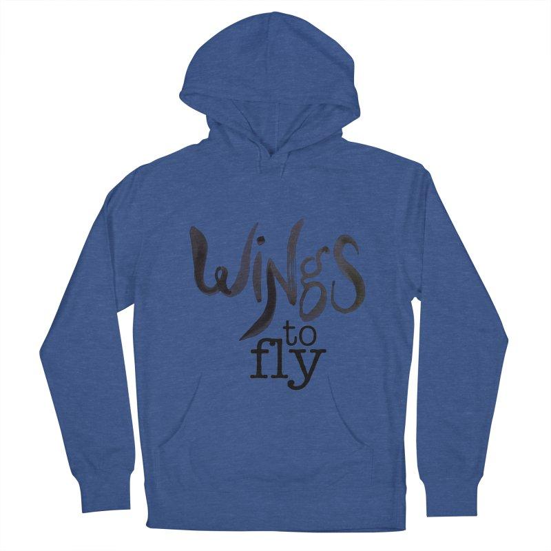 Wings To Fly Brushstroke Men's Pullover Hoody by wingstofly's Artist Shop