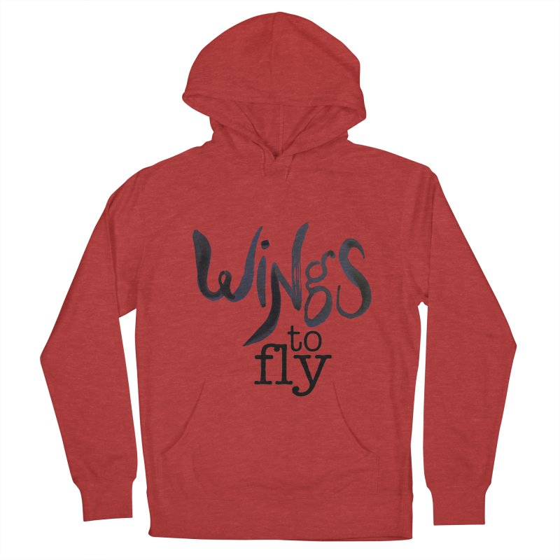 Wings To Fly Brushstroke Men's French Terry Pullover Hoody by wingstofly's Artist Shop