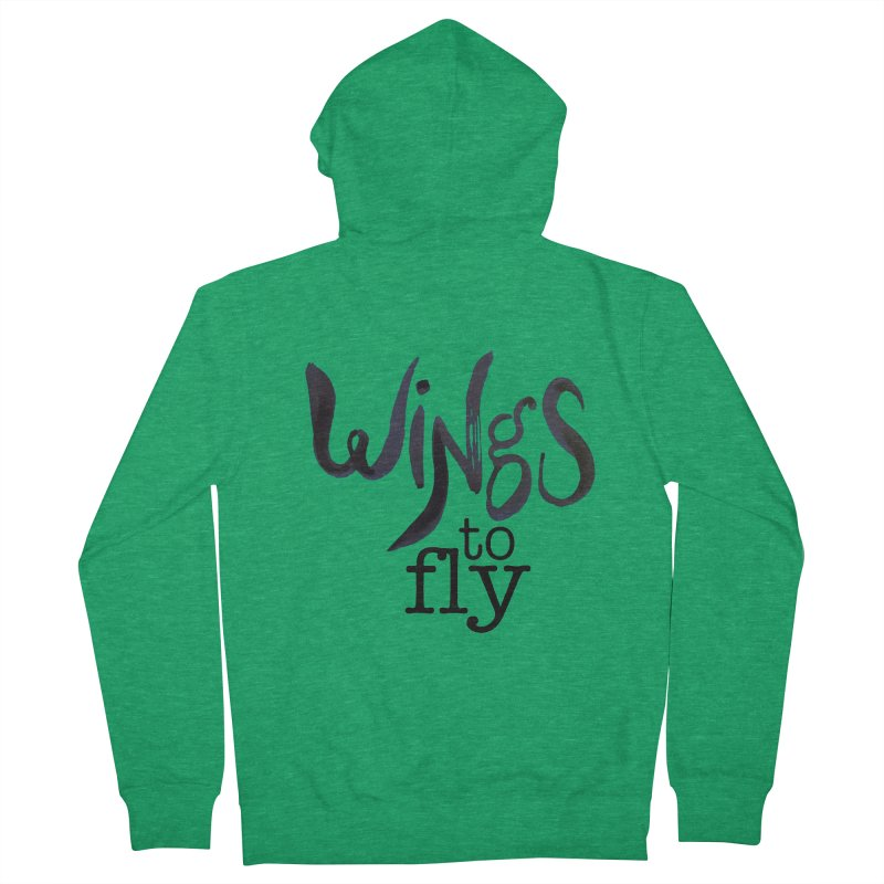 Wings To Fly Brushstroke Women's Zip-Up Hoody by wingstofly's Artist Shop