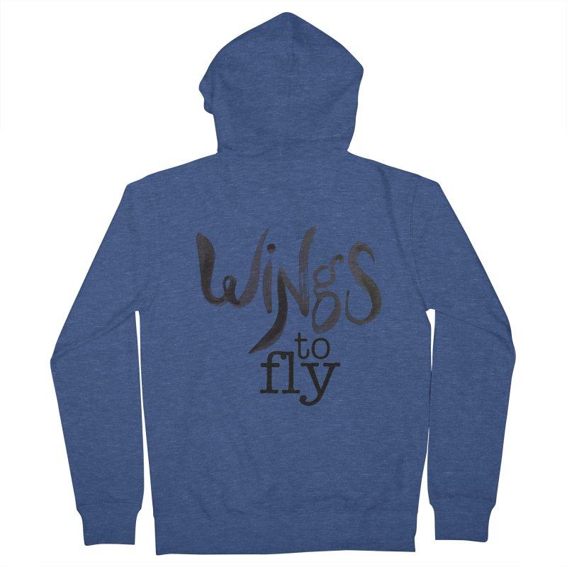 Wings To Fly Brushstroke Women's Zip-Up Hoody by wingstofly's Artist Shop