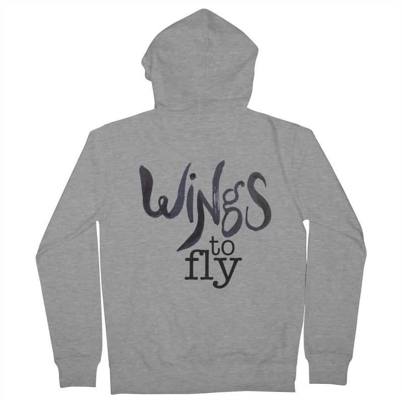 Wings To Fly Brushstroke Women's French Terry Zip-Up Hoody by wingstofly's Artist Shop